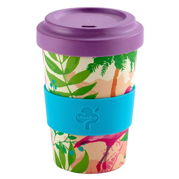 GreenCup by Arthur Price Flamingo Bamboo Fibre Takeaway Cup