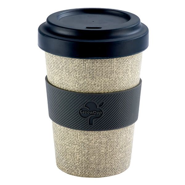 GreenCup by Arthur Price Canvas Bamboo Fibre Takeaway Cup
