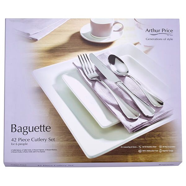 Arthur Price Everyday Classics Baguette 42 Piece Cutlery Set
