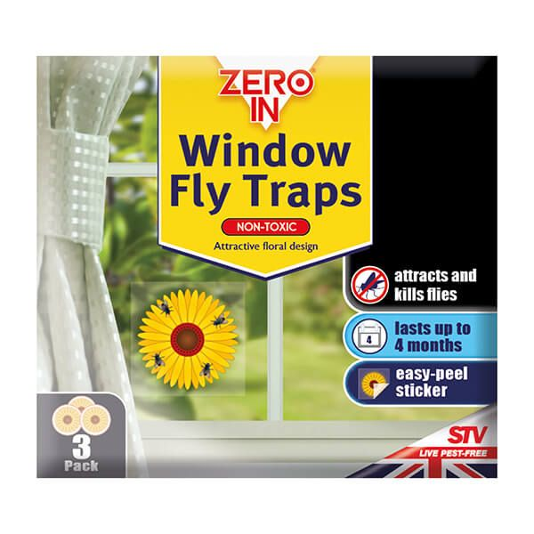 Zero In Window Fly Sticker Pack Of 3
