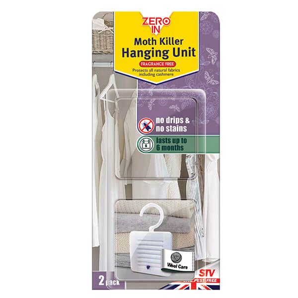 Zero In Moth Killer Hanging Units Pack Of 2