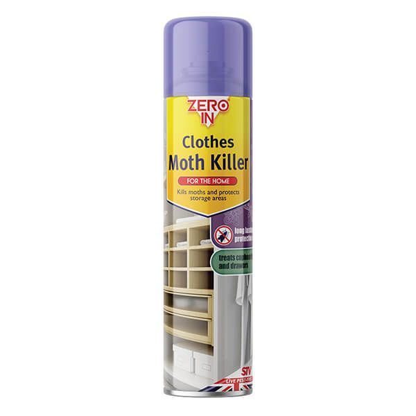 Zero In Clothes Moth Killer 300ml Aerosol