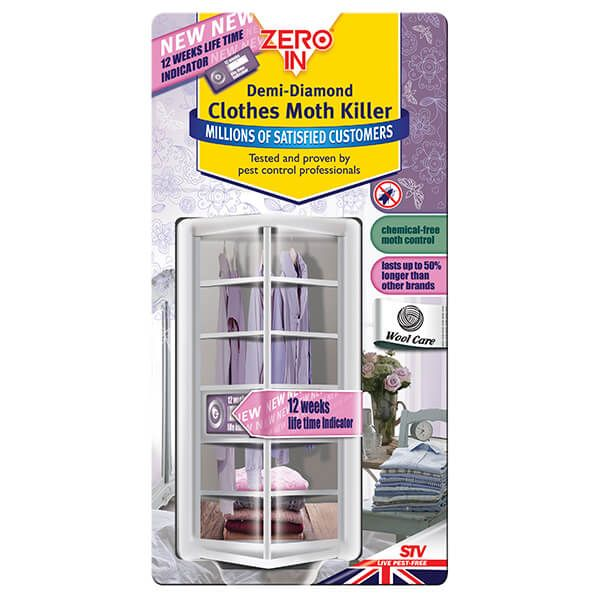 Zero In Demi-Diamond Clothes Moth Killer