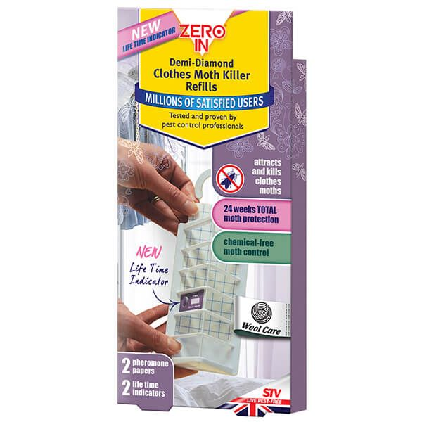 Zero In Demi-Diamond Clothes Moth Refills Pack Of 2