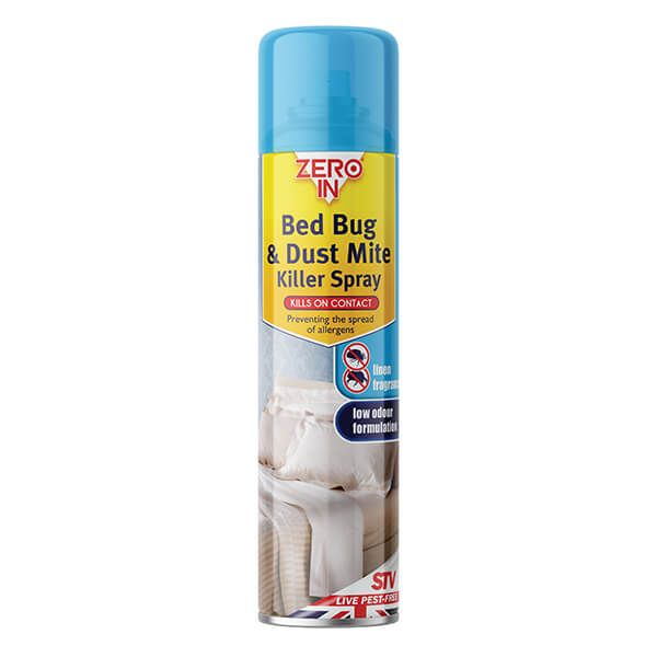 Zero In Bed Bug & Dust Mite Killer 300ml Aerosol