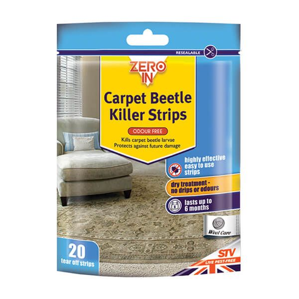 Zero In Carpet Beetle & Moth Killer Strips