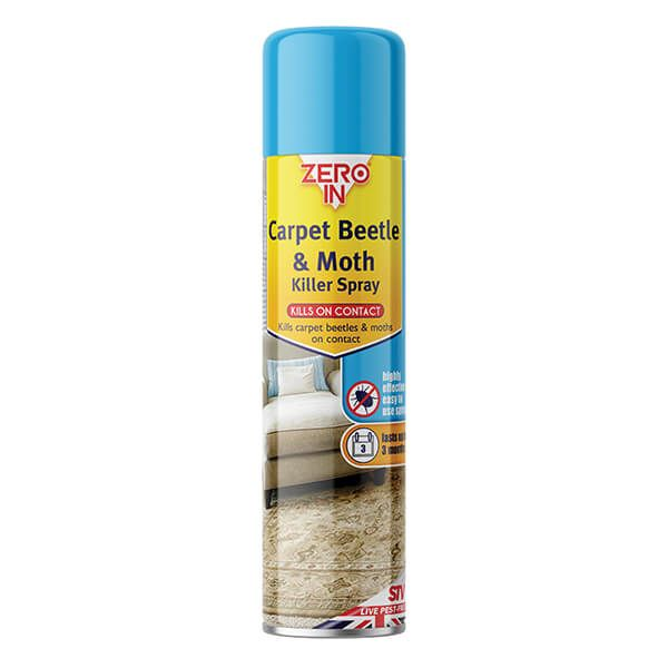 Zero In Carpet Beetle & Moth Killer 300ml Aerosol