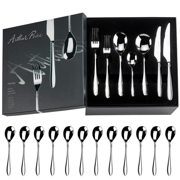 Arthur Price Signature Henley 84 Piece Cutlery Box Set plus FREE Set of 12 Tea Spoons