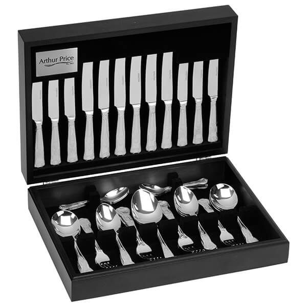 Arthur Price Classic Kings 44 Piece Cutlery Canteen FREE Extra Six Tea Spoons