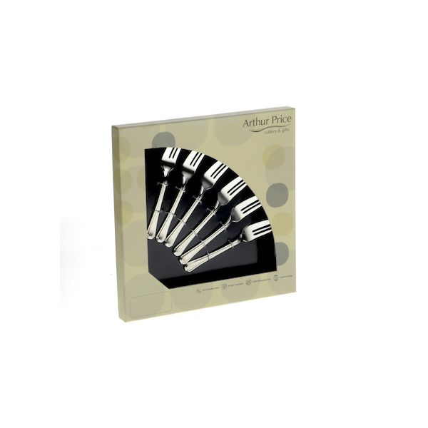 Arthur Price Classic Rattail Set of 6 Pastry Forks