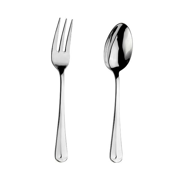 Arthur Price Classic Rattail Serving Spoon & Fork Set