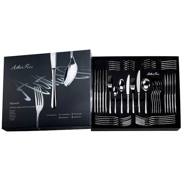 Arthur Price Warwick 42 Piece Cutlery Box Set