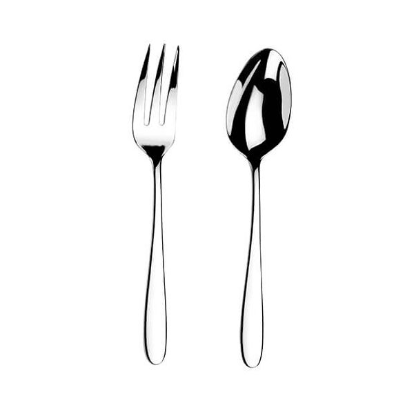 Arthur Price Contemporary Willow Serving Spoon & Fork Set