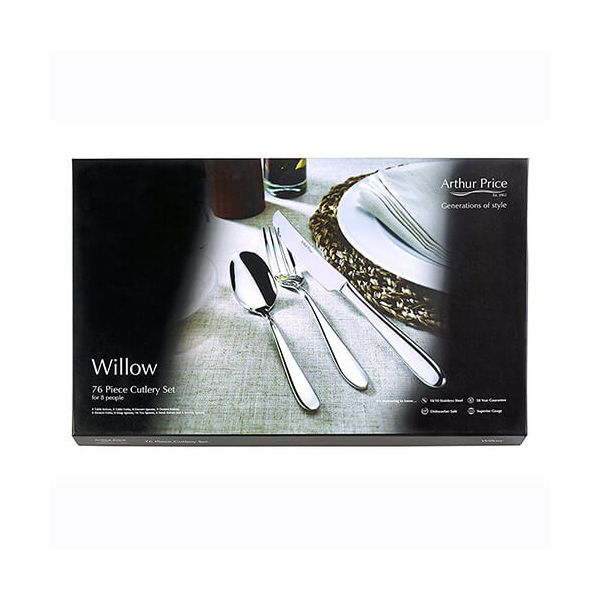 Arthur Price Contemporary Willow 76 Piece Cutlery Box Set