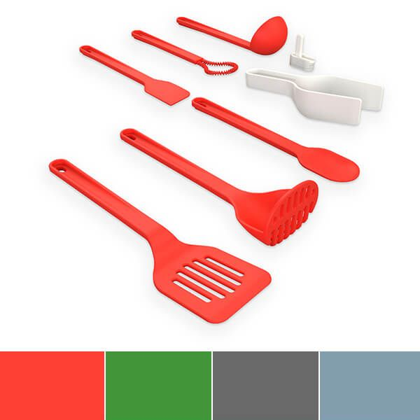 Venn Interlock Stacking 8 Piece Silicone Utensil Set