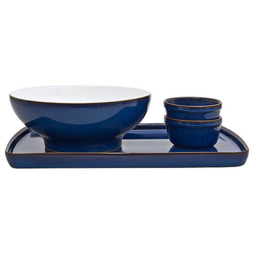 Denby Imperial Blue 4 Piece Deli / Sunday Lunch Set