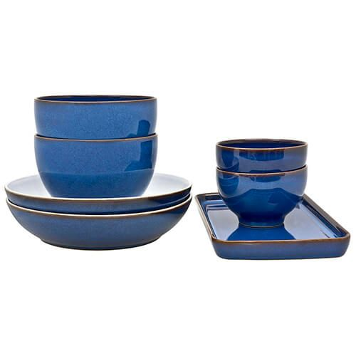 Denby Imperial Blue 7 Piece Takeaway Set