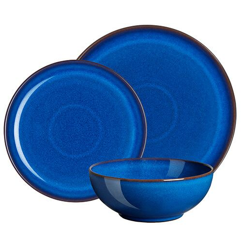 Denby Imperial Blue 12 Piece Coupe Set