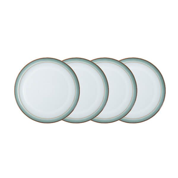Denby Regency Green 4 Piece Medium Plate Set