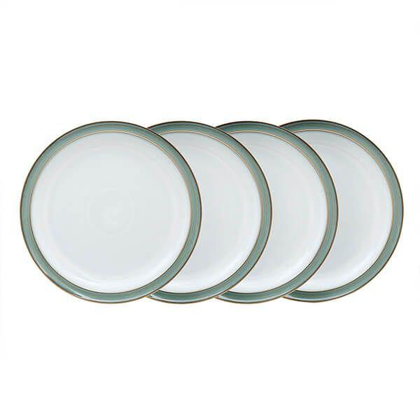 Denby Regency Green 4 Piece Dinner Plate Set
