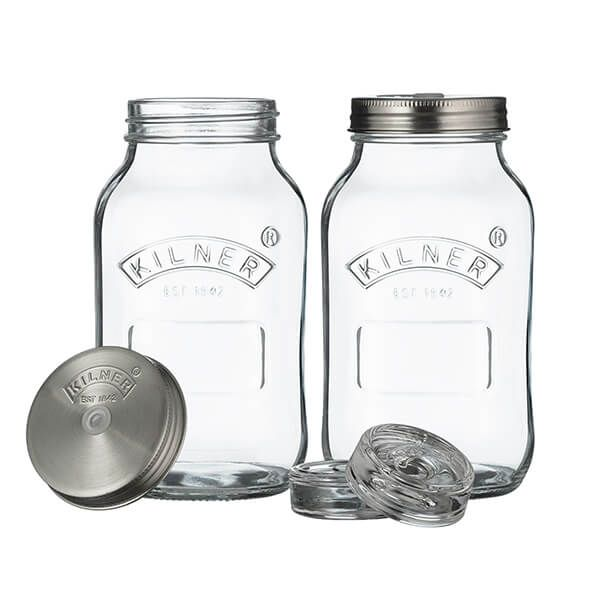 Kilner Set of 2 1L Fermentation Jars