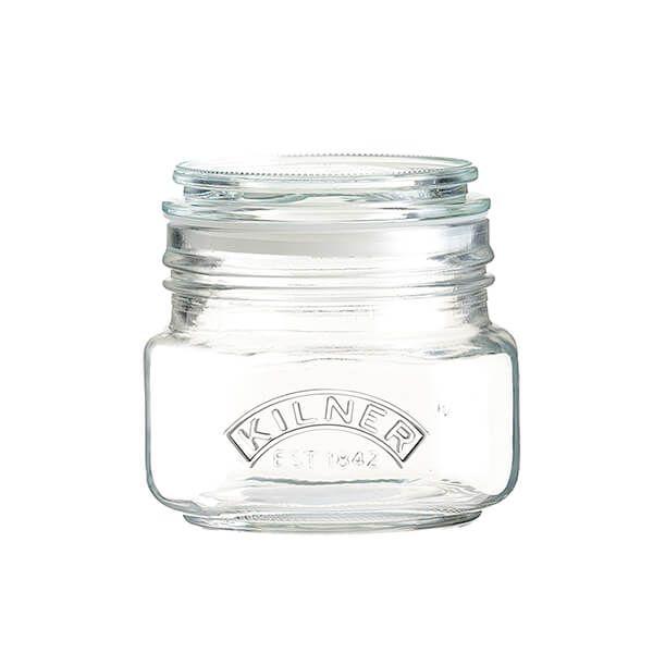 Kilner Push Top Square Jar 0.5 Litre