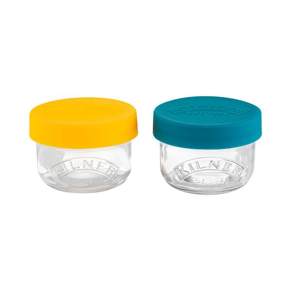 Kilner Set Of 2 Snack And Store Pots 125ml