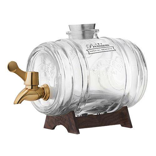 Kilner Barrel Drinks Dispenser With Brass Tap 1 Litre