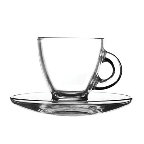 Ravenhead Entertain 80ml Set Of 2 Espresso Cup & Saucer