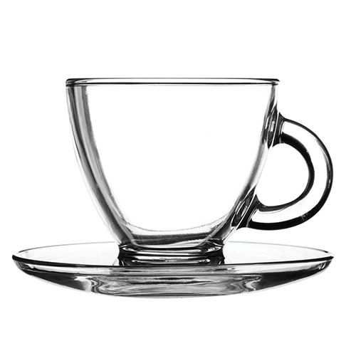 Ravenhead Entertain 200ml Set Of 2 Cappuccino Cup & Saucer