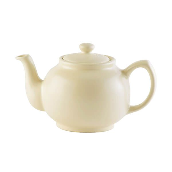 Price & Kensington Matt Cream 6 Cup Teapot