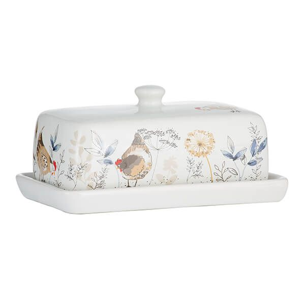 Price & Kensington Country Hens Butter Dish