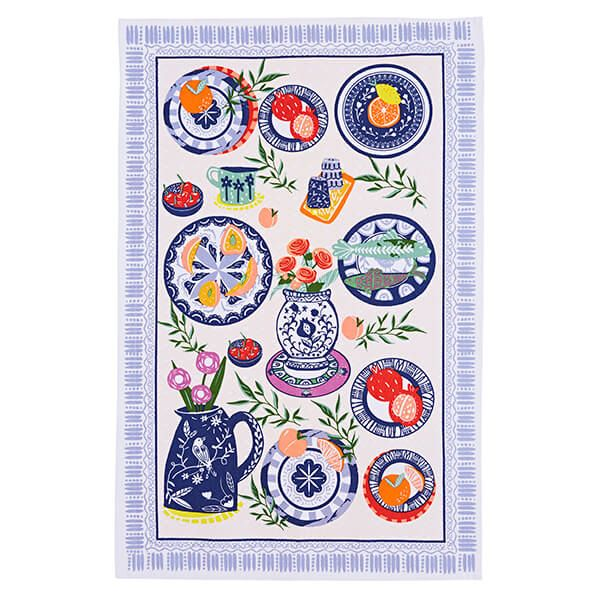 Ulster Weavers Mediterranean Plates Cotton Tea Towel