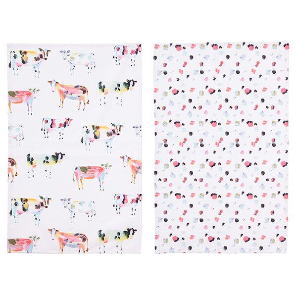 Ulster Weavers Pack of 2 Tea Towels Brushstroke Cow
