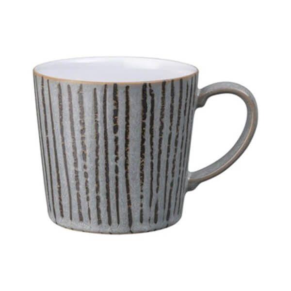 Denby Dark Grey Vertical Wax Large Mug
