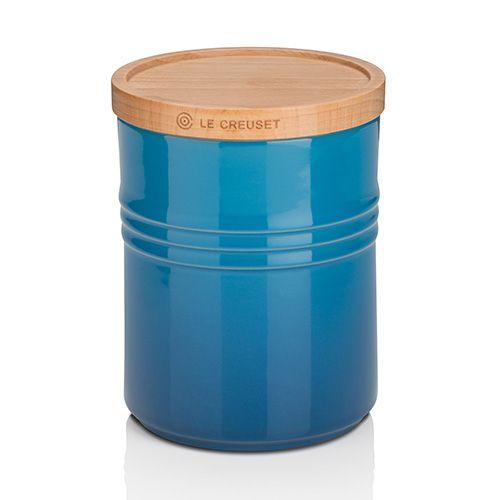 Le Creuset Marseille Blue Stoneware Medium Storage Jar