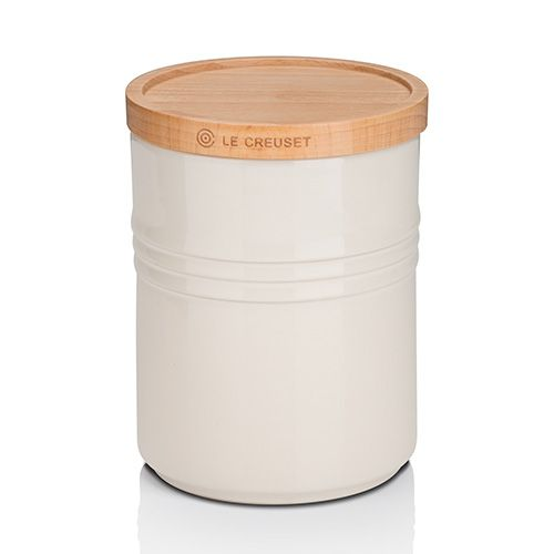 Le Creuset Almond Stoneware Medium Storage Jar
