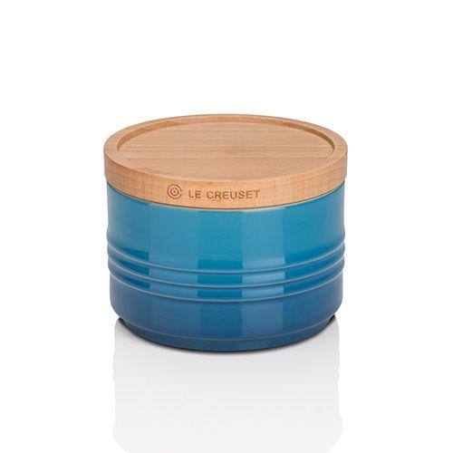 Le Creuset Marseille Blue Stoneware Small Storage Jar 3 for 2