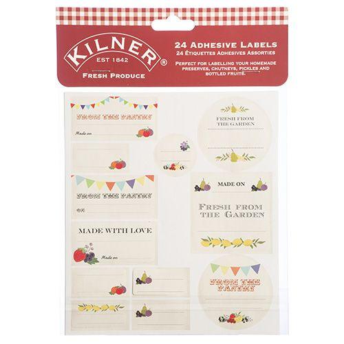 Kilner Pack Of 24 Fresh Produce Labels