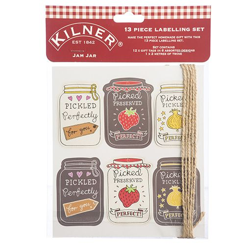 Kilner Jam Jar 13 Piece Tag Set
