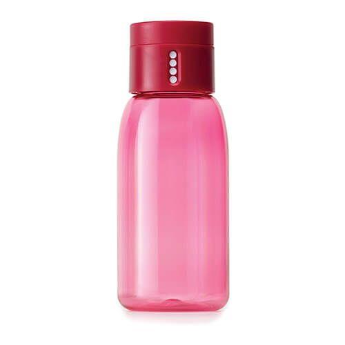 Joseph Joseph Dot Hydration-tracking Pink 400ml Water Bottle