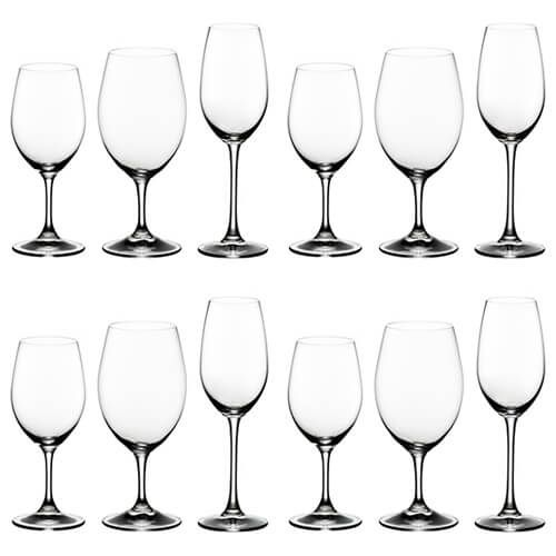 Riedel Ouverture Red / White / Champagne 12 Piece Set