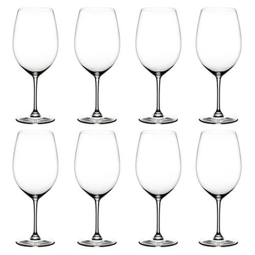 Riedel Vinum Cabernet / Merlot Wine Glass Eight Piece Set