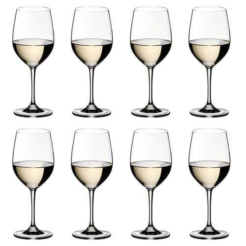 Riedel Vinum Viognier / Chardonnay Wine Glass Eight Piece Set