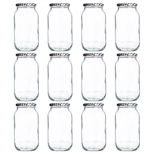 Kilner Twist Top Round Jar 725ml Set Of 12