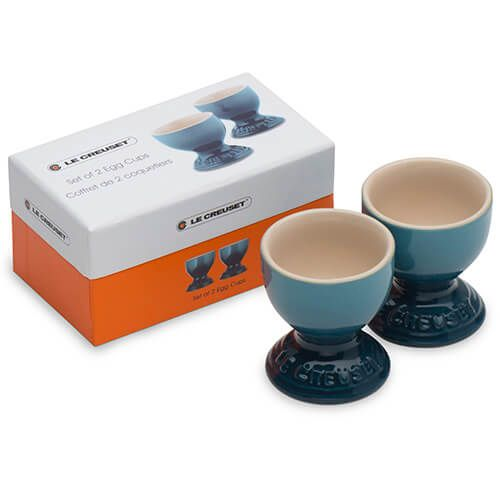 Le Creuset Marine Stoneware Egg Cup Set Of Two