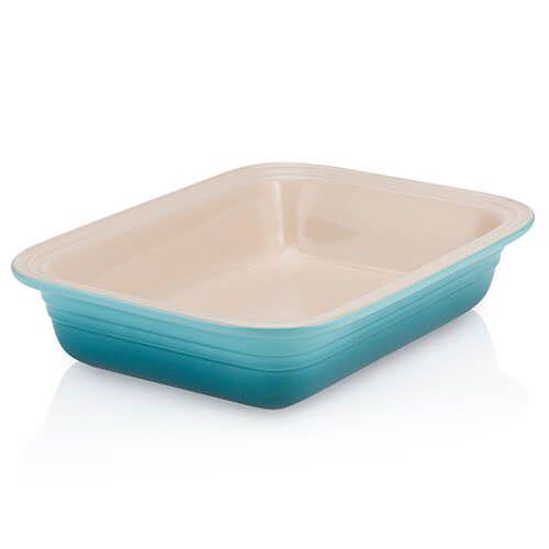 Le Creuset Teal Stoneware 29cm Rectangular Deep Dish