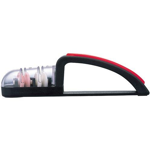 MinoSharp Plus Shinkansen Universal Sharpener Black & Red