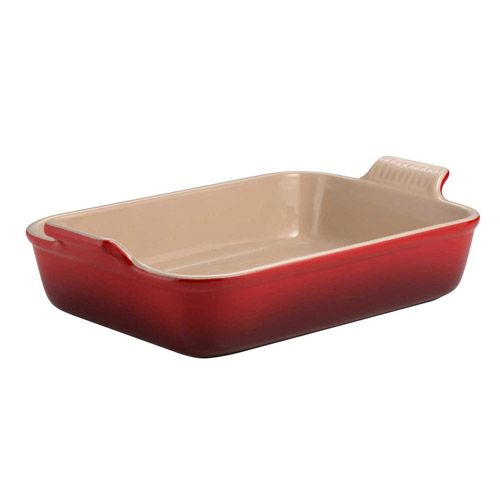 Le Creuset Cerise Stoneware 19cm Deep Rectangular Dish