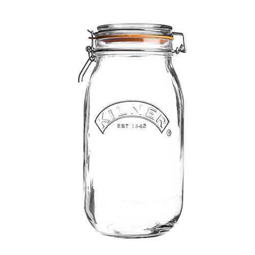 Kilner Clip Top Jar Round 3 Litre